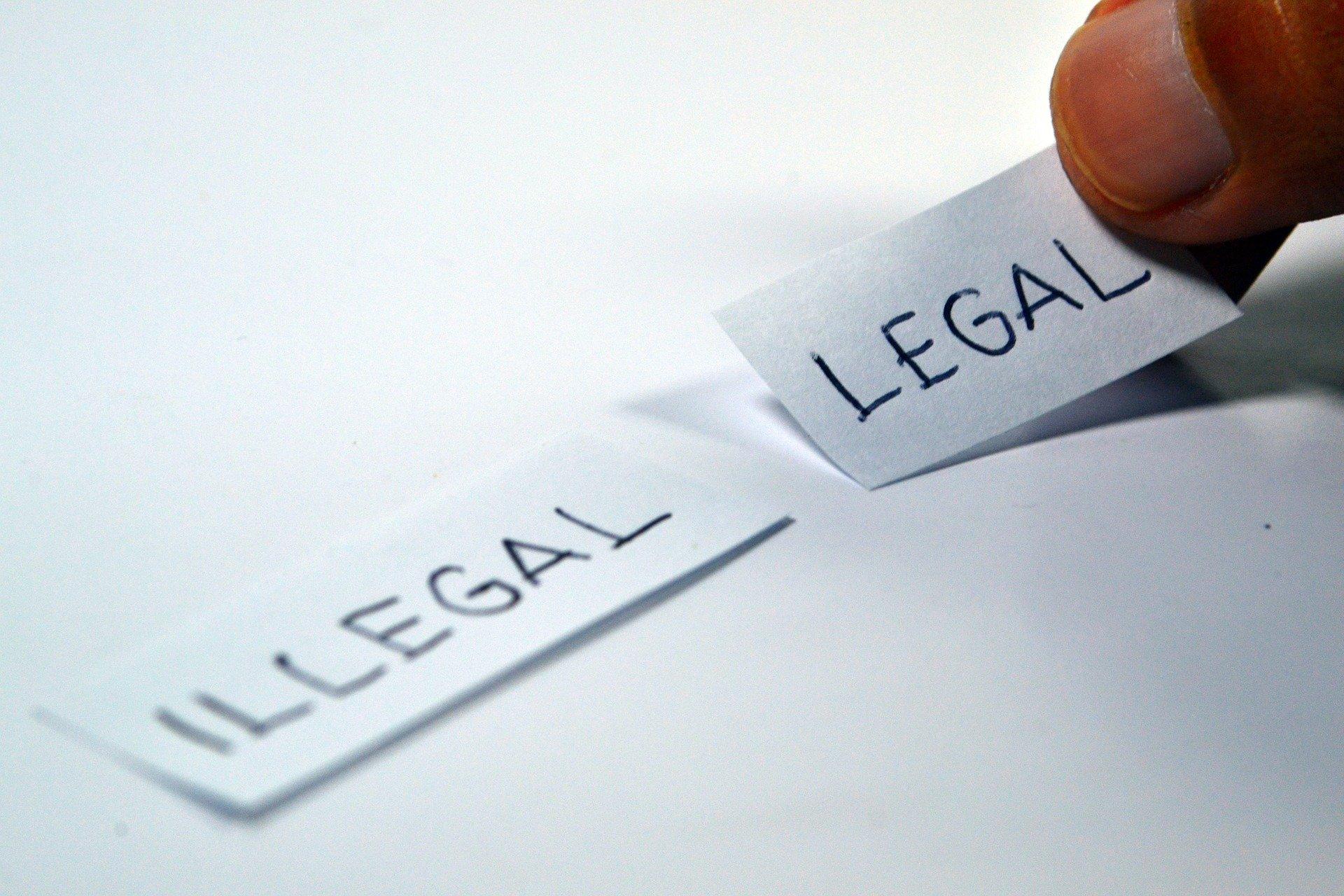 Materiały dla sądu muszą być legalne.