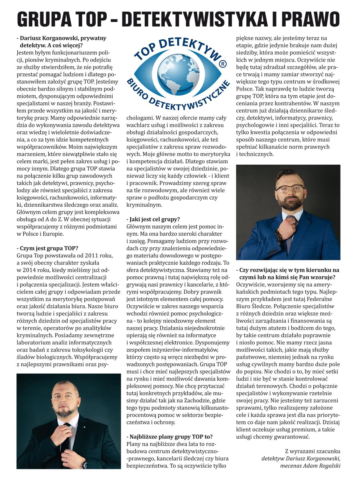 Grupa TOP – detektywistyka i prawo (gazeta)